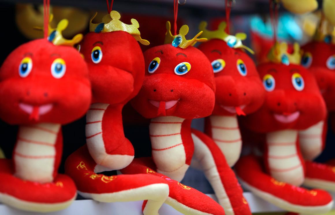 Calendário chinês celebra o ano da serpente