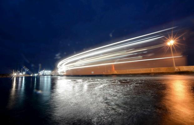 ITÁLIA, 9.01.2013. O Costa Concordia na ilha de Giglio, um ano após o naufrágio.