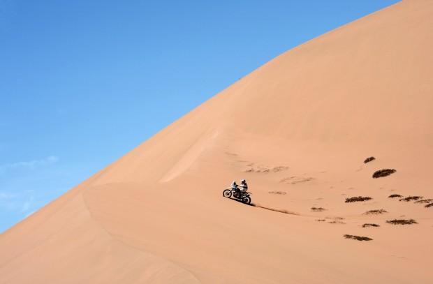 No Dakar 2013 (que se realiza entre Peru, Argentina e Chile). Na imagem o chileno Francisco Chaleco Lopez na etapa 12 entre Argentina e Chile