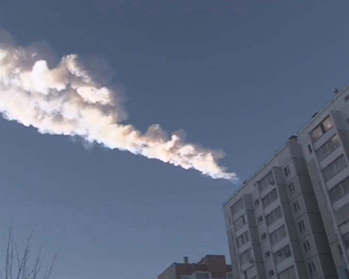 Outro rasto do meteoro na Rússia