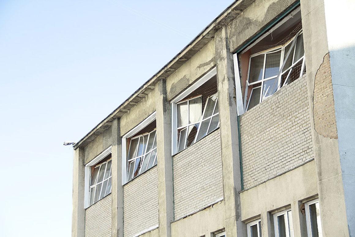Outro prédio afectado pelo meteoro