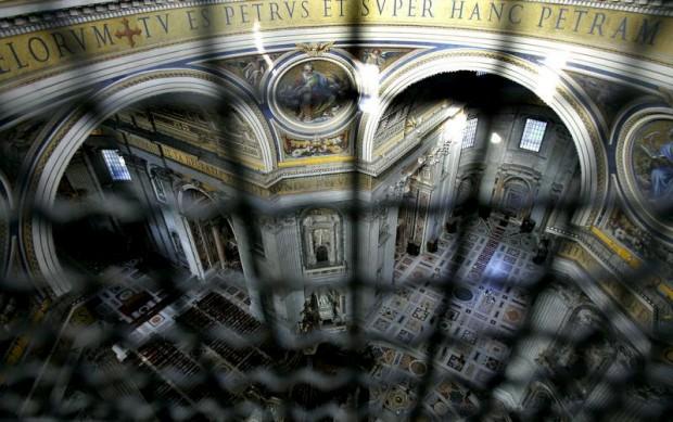 A basílica vista de um varandim da cúpula
