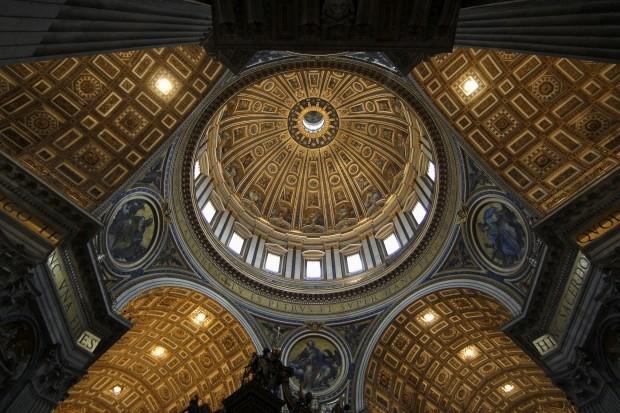 A abóboda da Basílica