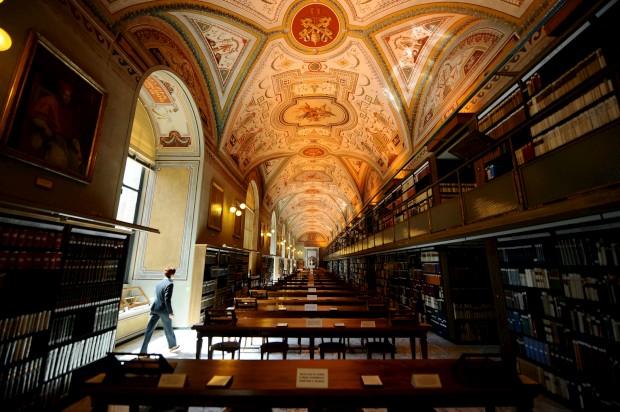 A Biblioteca Apostólica Vaticana, reaberta em 2010 após um restauro de três anos