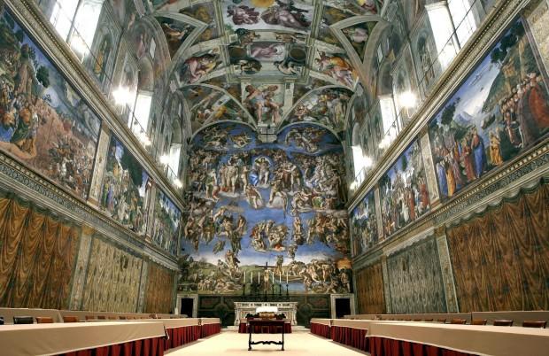 Jóia da coroa: A Capela Sistina pintada por Miguel Ângelo, onde os cardeais decidem os novos papas