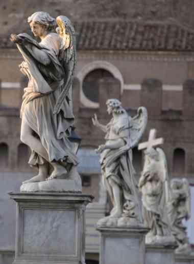 Os anjos da Ponte Sant'Angelo