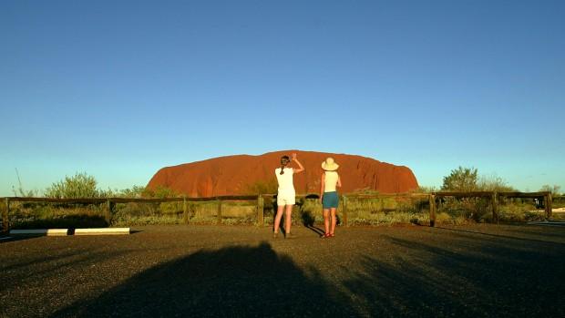 Pôr-do-sol sobre o Uluru