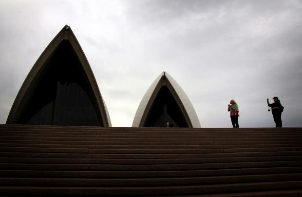 AUSTRÁLIA, 31.03.2013. Os telhados em forma de velas da Sydney Opera House
