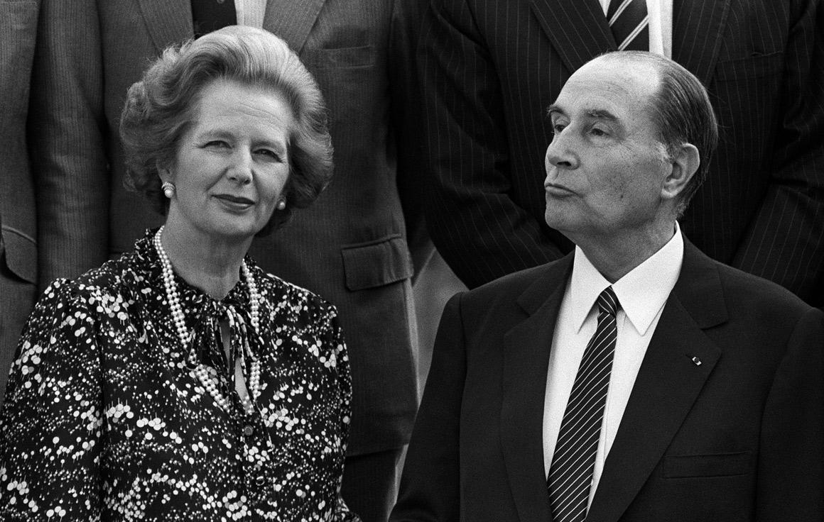 Com Mitterandem 1984: Thatcher temia que a França permitisse à Agentina comprar mísseis Exocet