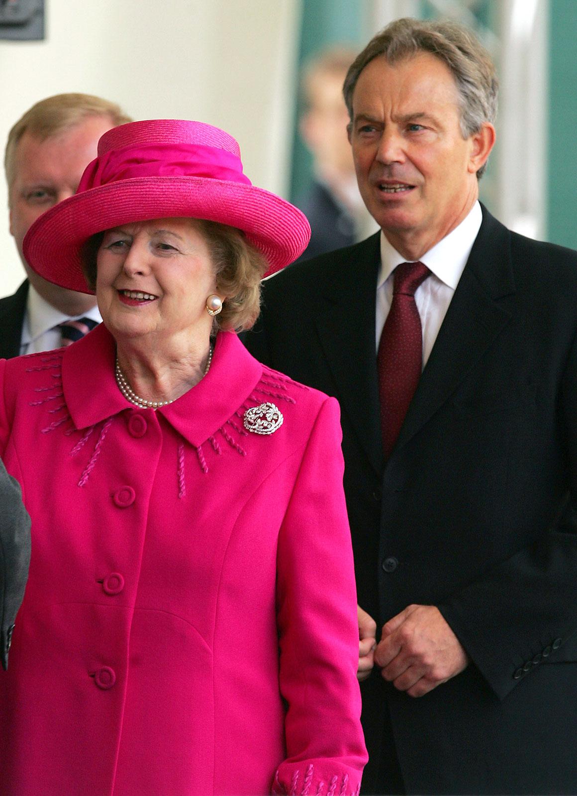 Com Tony Blair, também em 2007