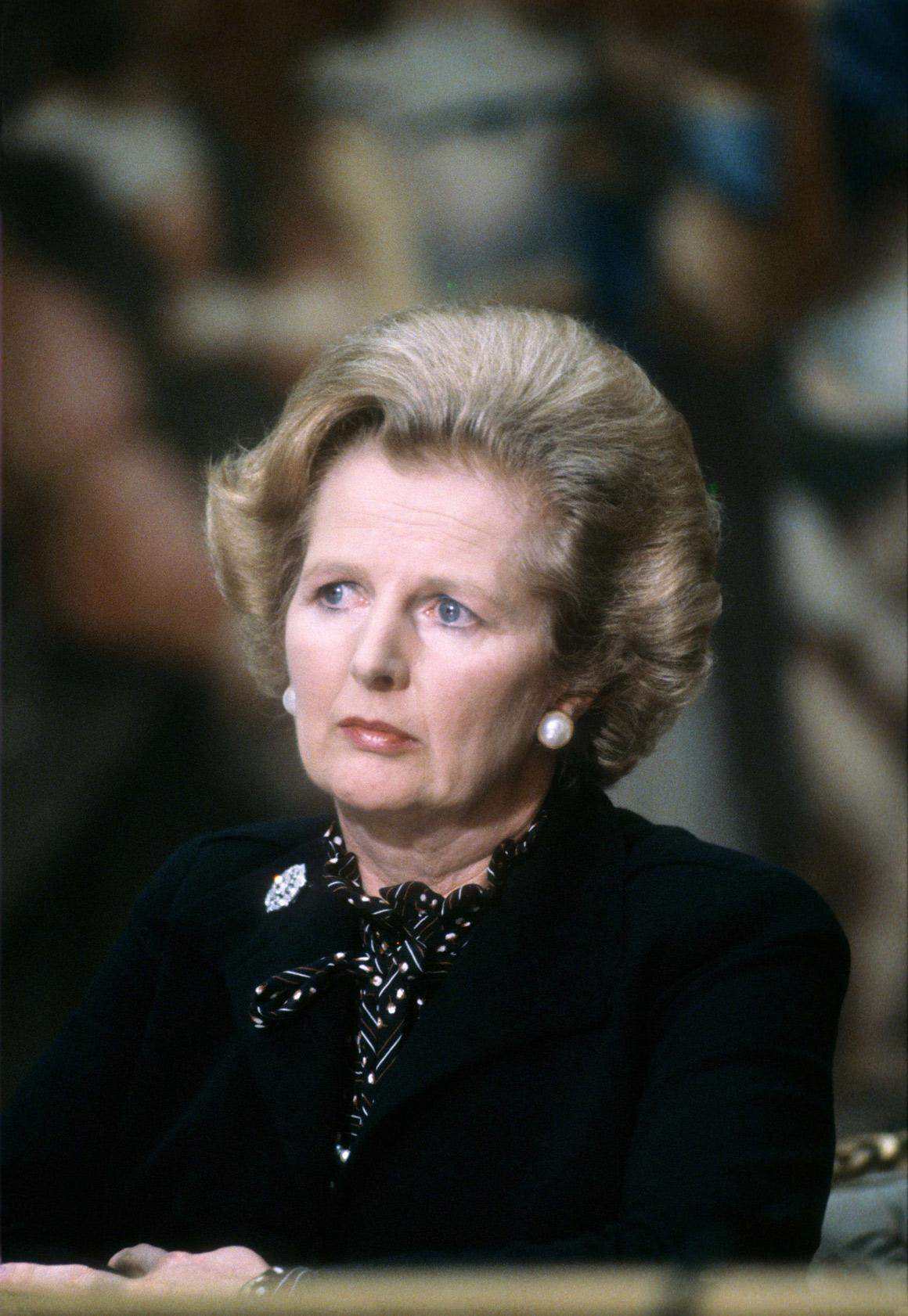 Em Paris, durante uma cimeira franco-britânica, em 1986