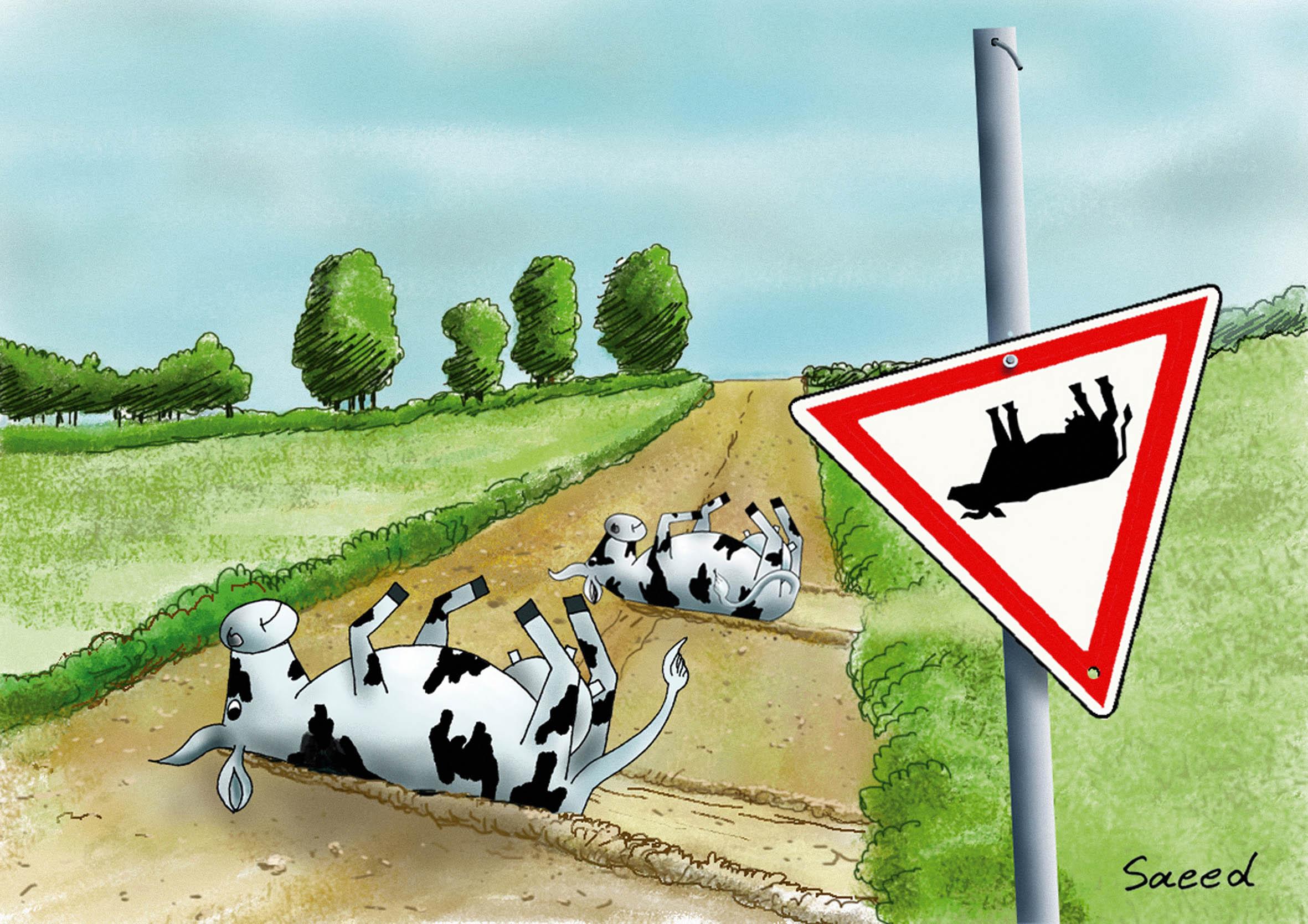 """""""Recessão económica"""" (Desenho de Humor)"""
