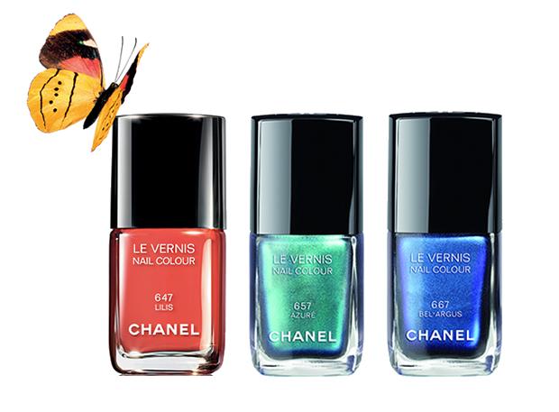 Lilis, Azuré e Bel-Argus, as três propostas de vernizes Chanel para este Verão