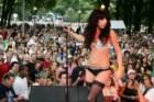 Na sua primeira actuação como Lady Gaga, em 2007
