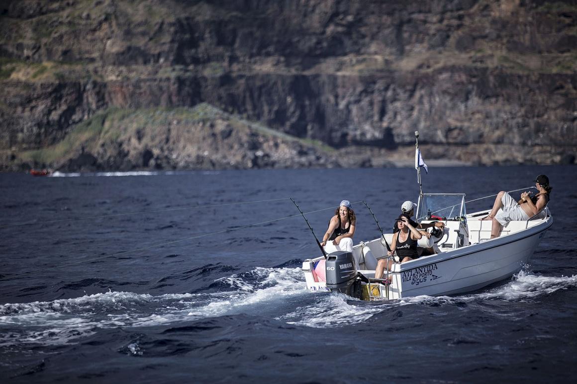 Prova de Corrico Feminino (pesca), organizada pelo Clube Naval de Santa Maria