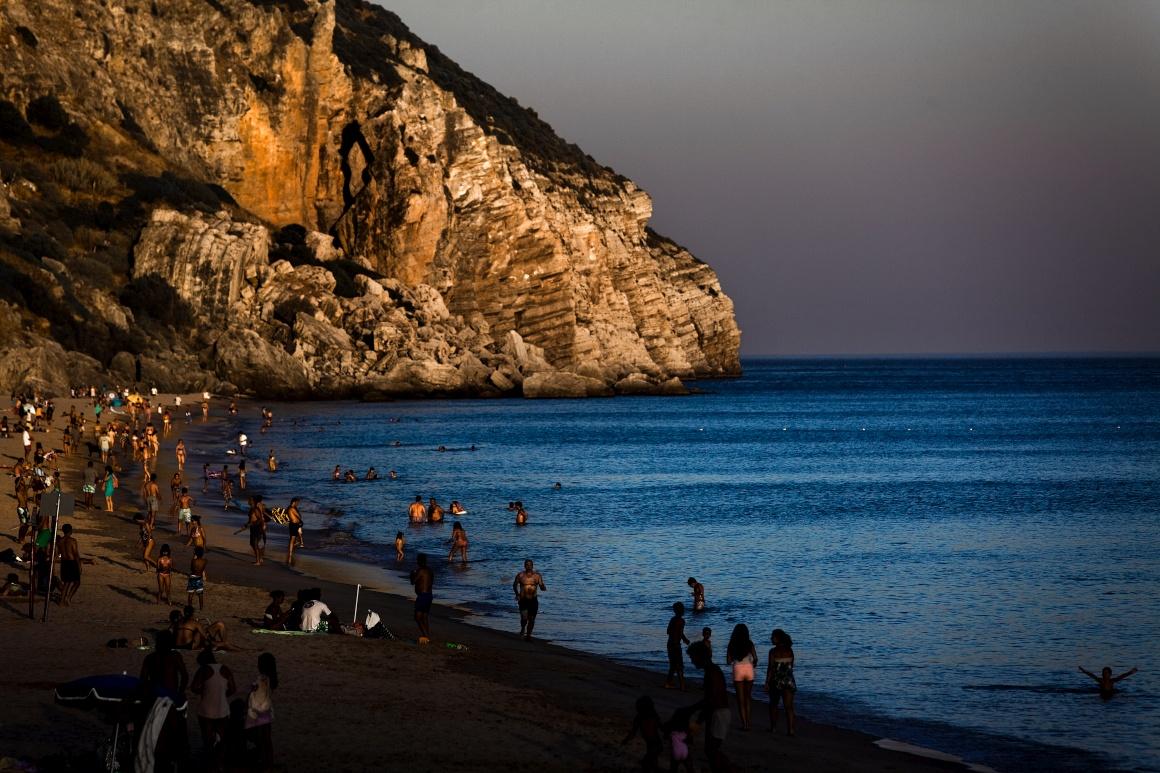Praia da Califórnia, concelho de Sesimbra
