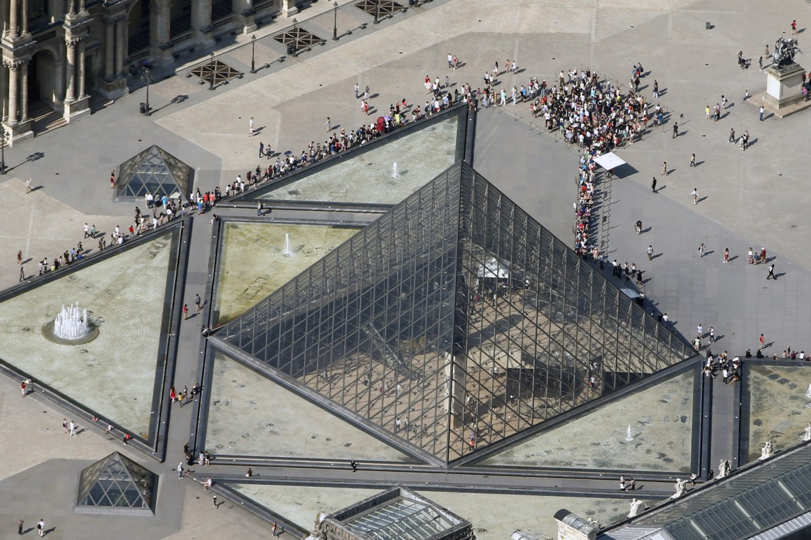 Louvre e a Pirâmide