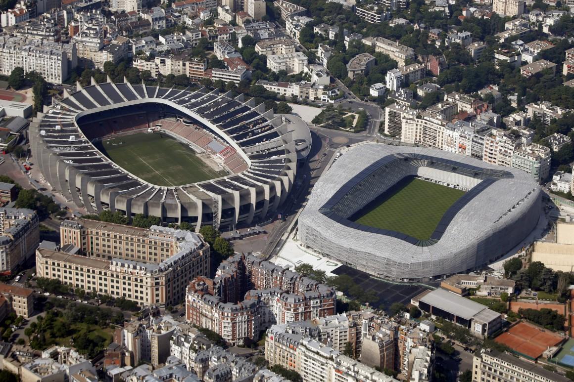 Estádio do Parque dos Príncipes e o estádio Jean Bouin