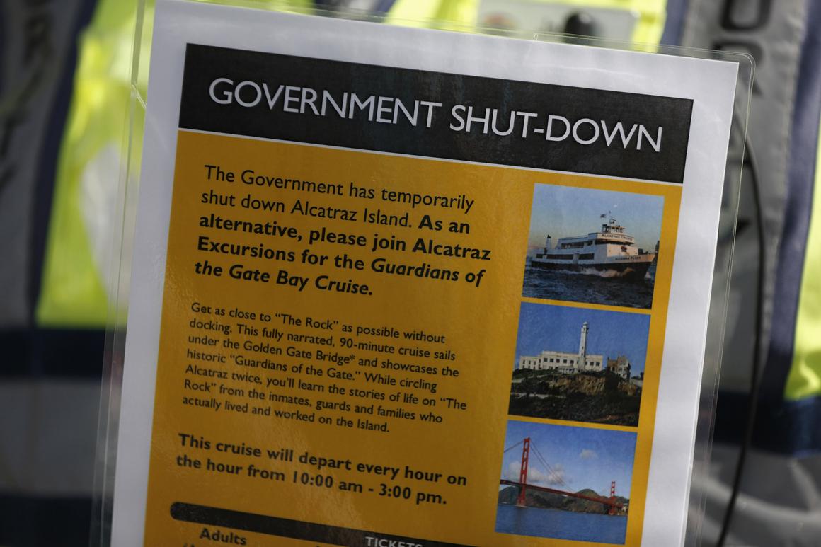 A ilha de Alcatraz, na Califórnia, também está interdita a visitas