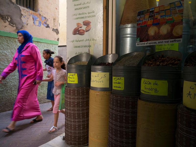 Os aromas das especiarias marcam um passeio pelas ruas de qualquer medina marroquina