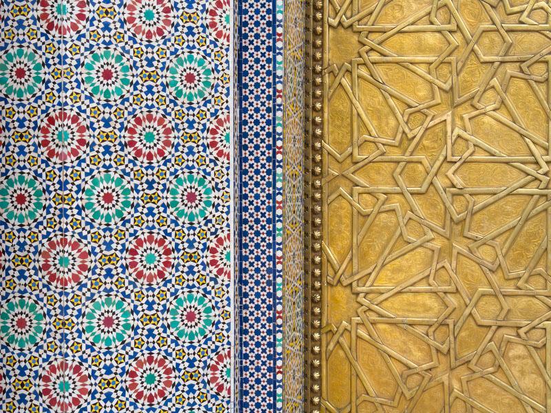 Fez, portas do Palácio Real (detalhe)