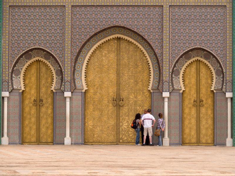 Fez, portas do Palácio Real