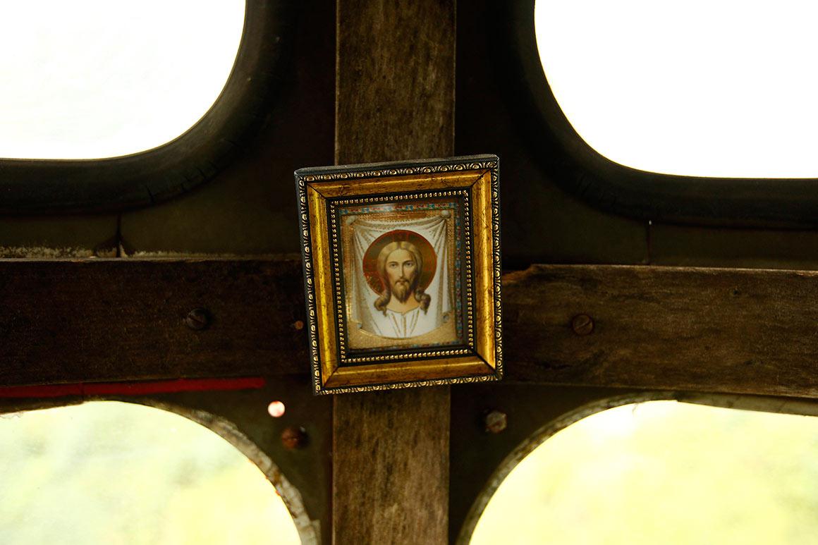 Imagem de Jesus Cristo no interior