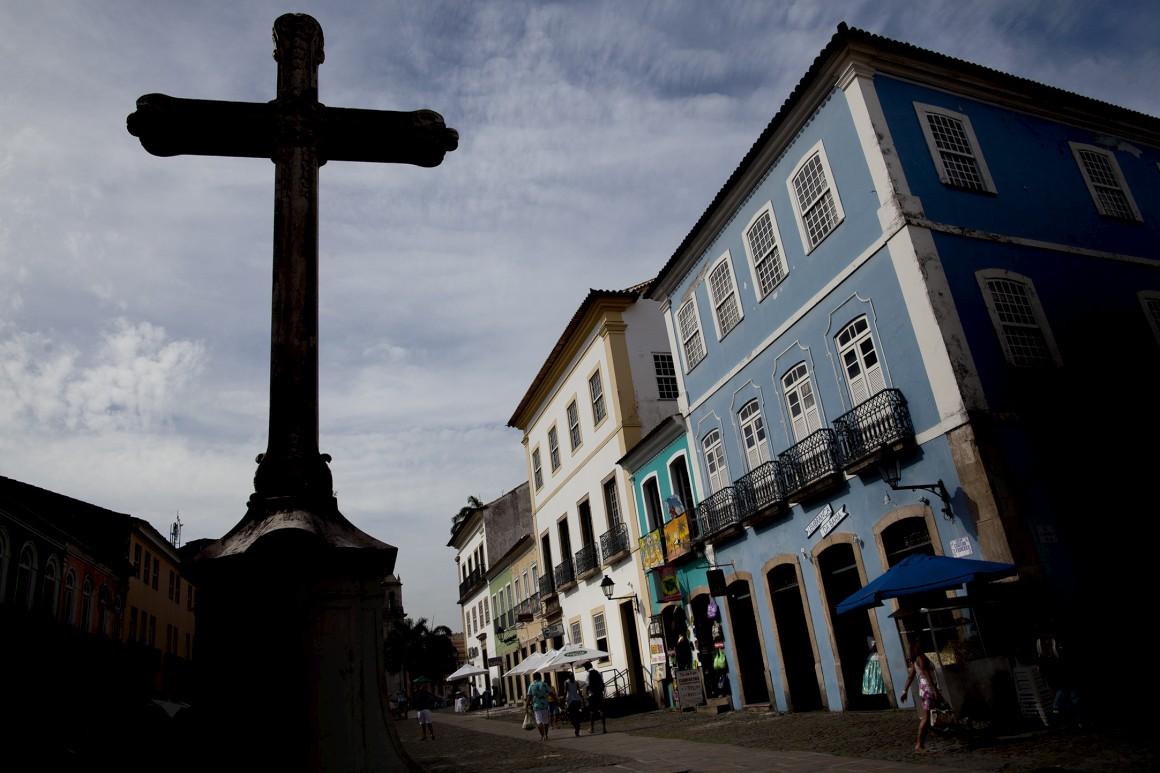 O bairro do Pelourinho, o centro histórico de Salvador