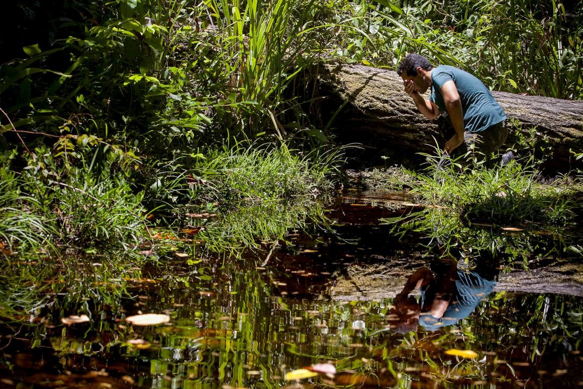 Uma nascente na Reserva da Sapiranga, a 50 kms de Salvador