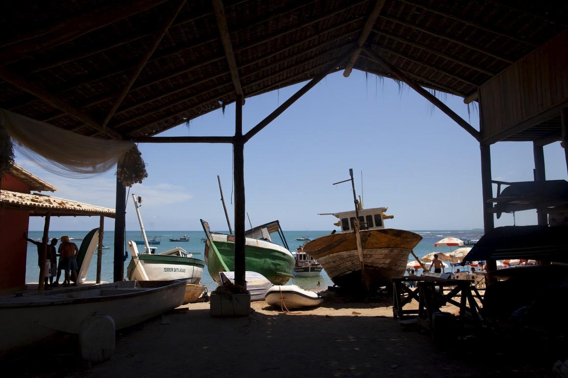 O antigo porto da vila da Praia do Forte