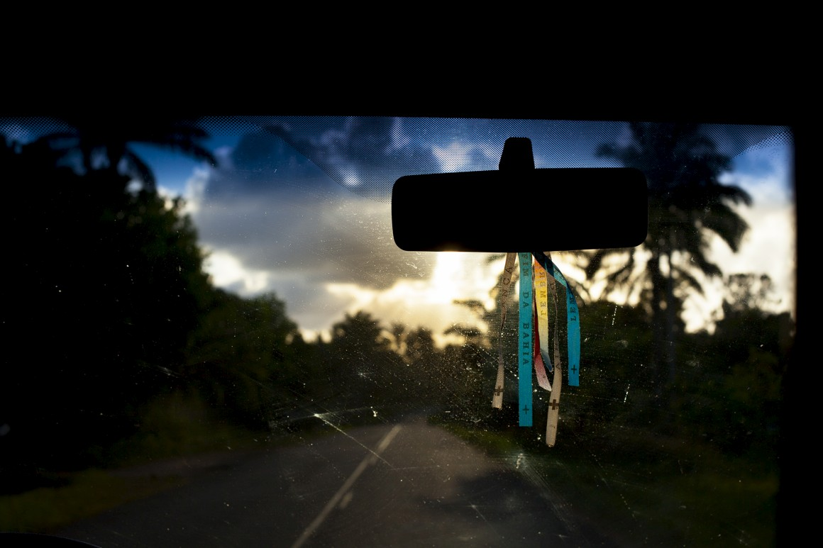 Fim de dia e fim da viagem na Bahia