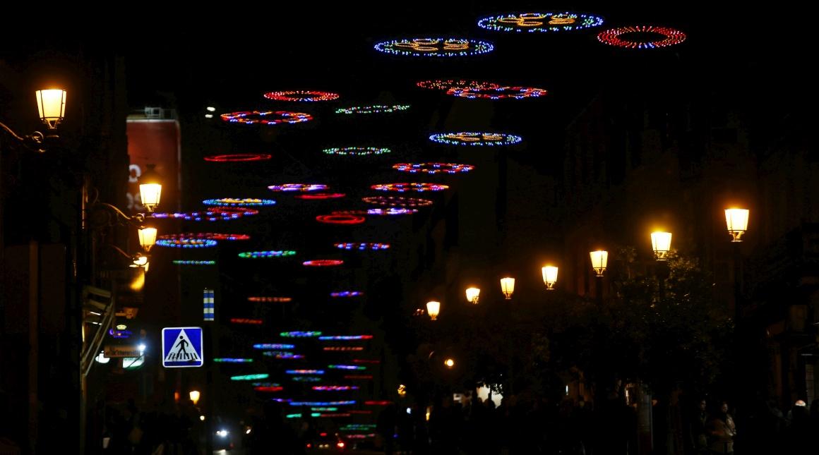 Espanha, iluminações de Natal em Madrid, Calle Mayor