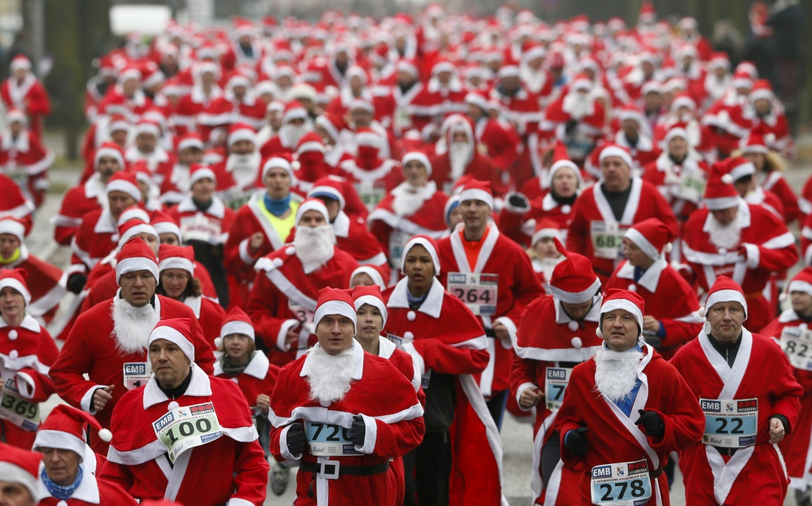 Alemanha, uma corrida de Pais-Natal em Michendorf, perto de Berlim