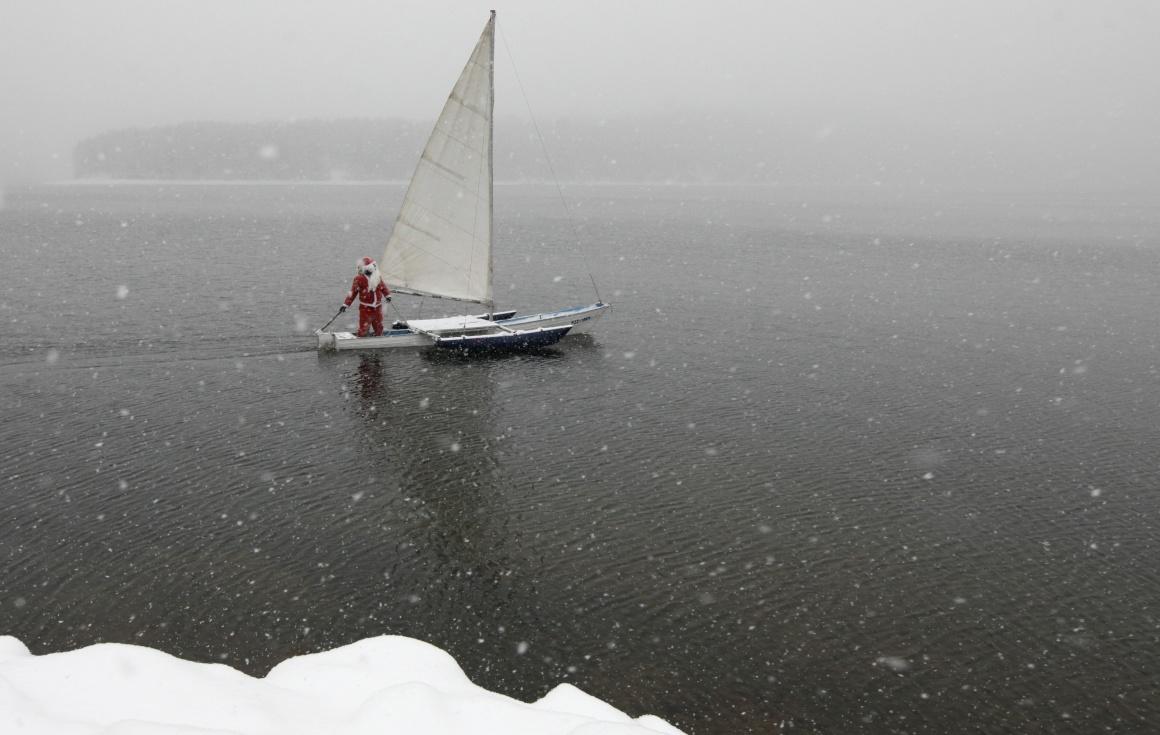 Rússia, Krasnoyarsk (Sibéria), no rio Yenisei, -8ºC