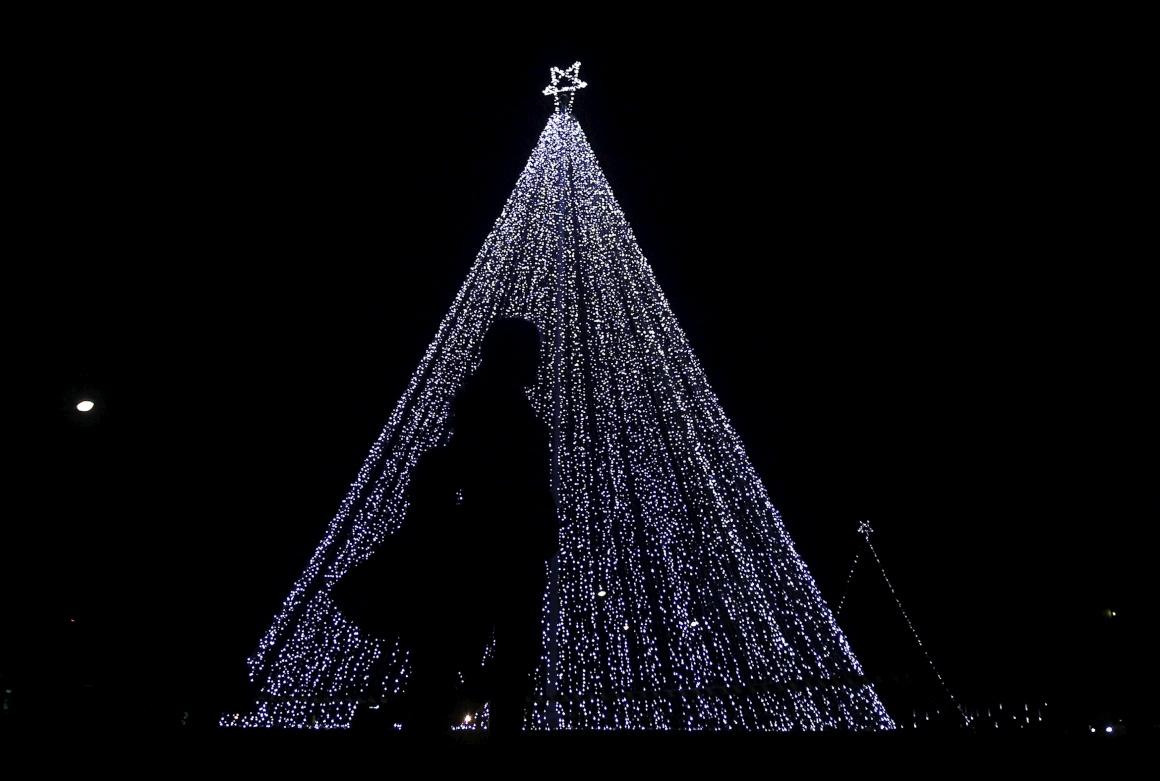 Sri Lanka, Colombo, decorações de Natal na rua