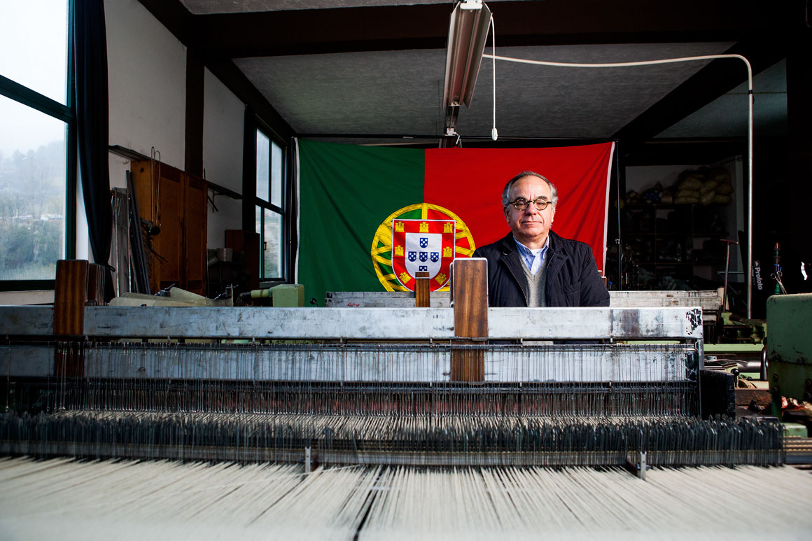 João Clara, 57 anos, proprietário de uma fábrica de lãs em Manteigas