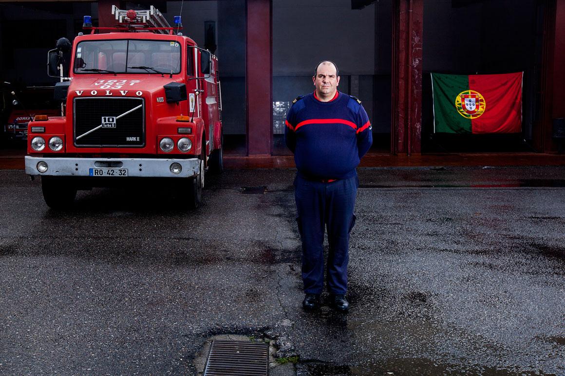 Pedro Pereira, 43 anos, comandante dos Bombeiros Voluntarios de Melgaço