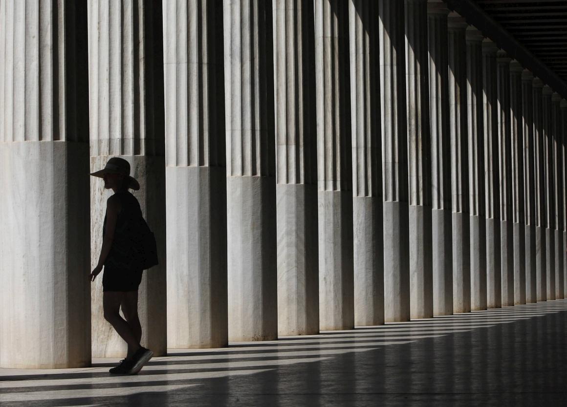 GRÉCIA, 3.09.2013. No Pórtico de Átalo, na Ágora de Atenas