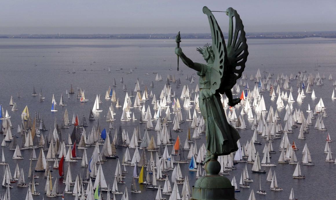 ITÁLIA, 13.10.2013. A regata Barcolana, clássico de Trieste, uma das maiores competições à vela do mundo