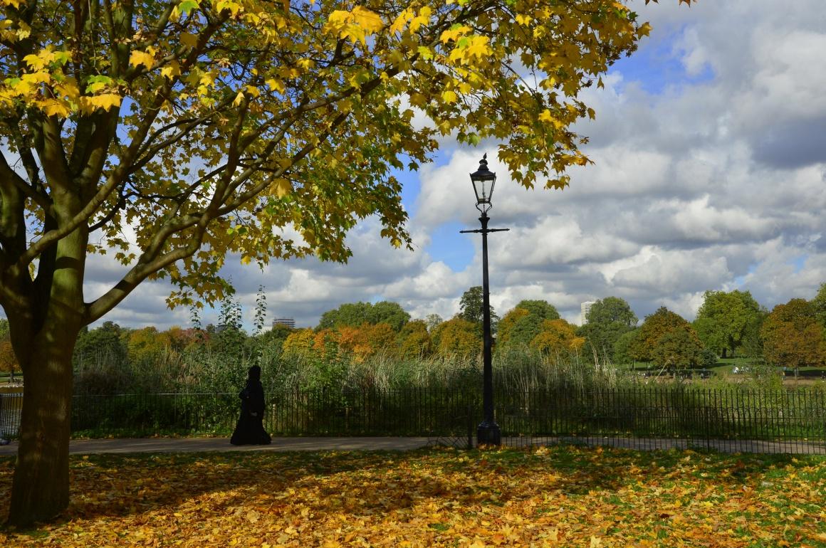 INGLATERRA, 24.10.2013. Hyde Park de Londres em tom Outono