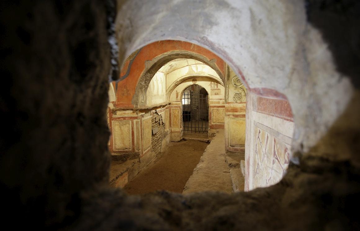 ITÁLIA, 19.11.2013. Catacumbas de Priscila em Roma, reabertas ao público após anos de obras de restauro