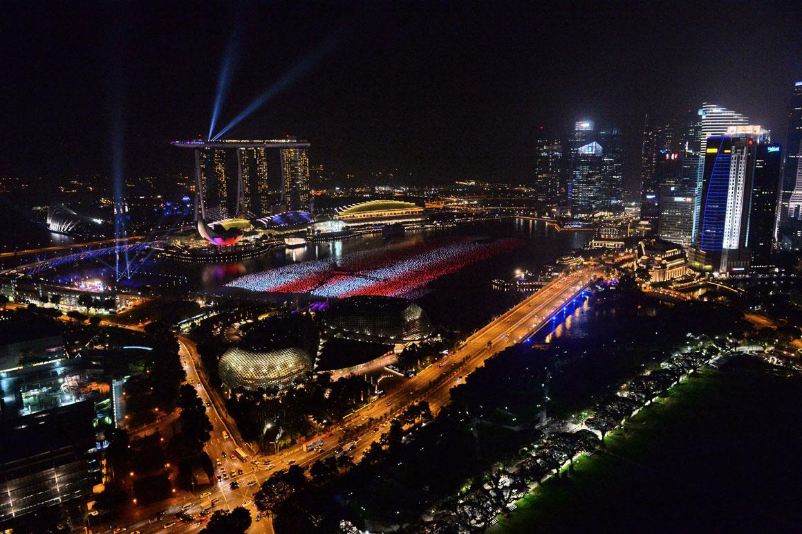 Contagem decrescente em Singapura