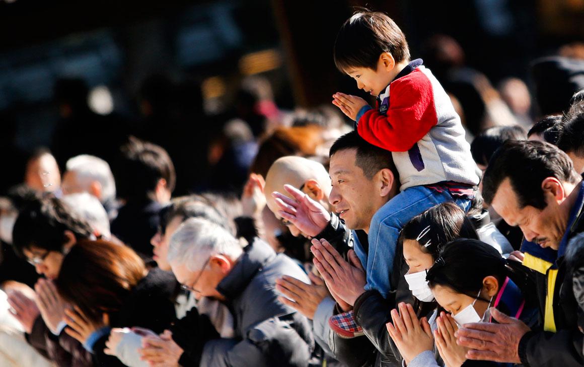 Orações de Ano Novo em Tóquio, no Japão