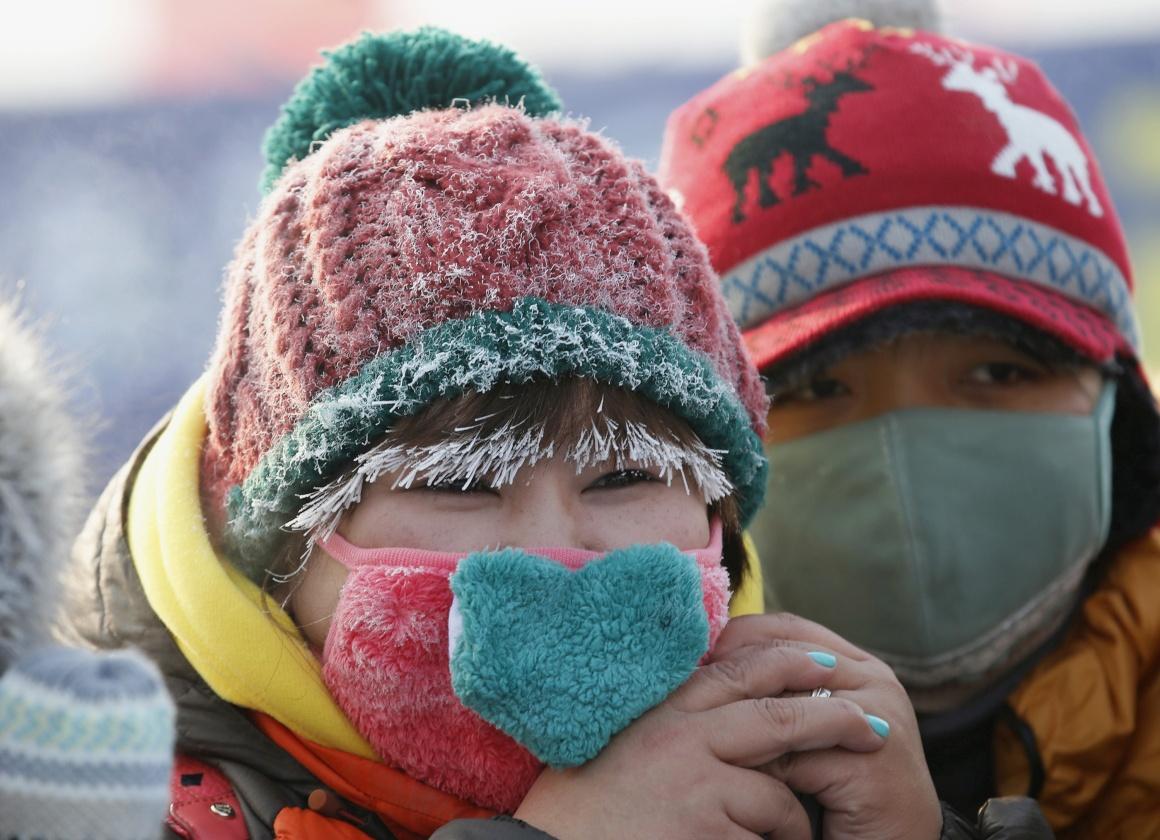 Também os espectadores se arriscam a congelar...
