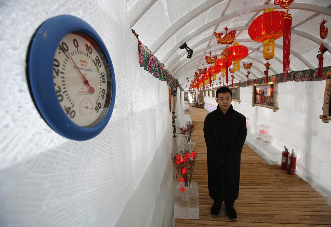 Palácio do Gelo no Hotel Shangri-La a -10ºC