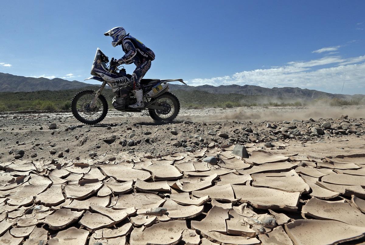 2014-01-07. Olivier Pain de Yamaha, entre San Rafael e San Juan, Argentina