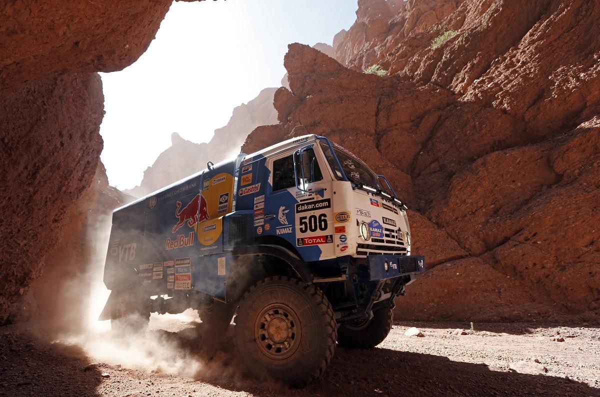 2014-01-10. Andrey Karginov em camião Kamaz de Tucuman para Salta, Argentina