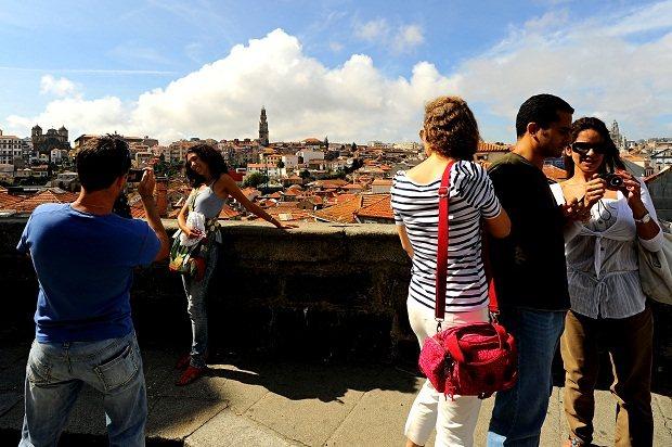 Turistas pelo Porto