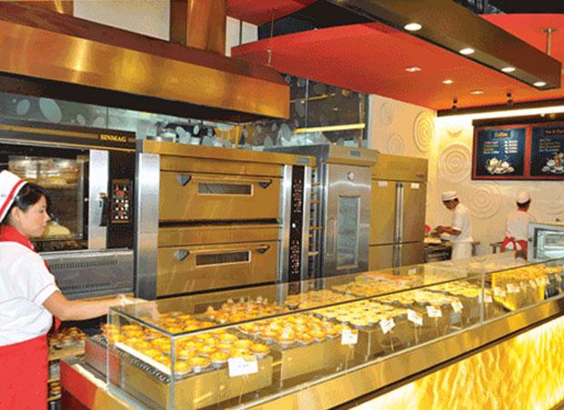 Uma das Golden Egg Tart Bakery