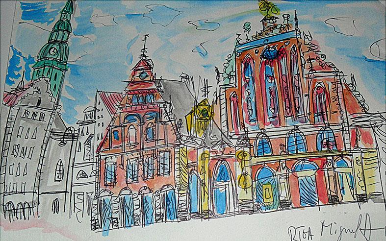 Riga, desenhada por Miguel Antunes